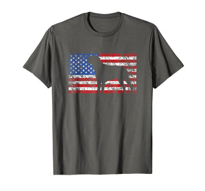 American Flag Rottweiler Dog Shirt 4th of July USA Gift