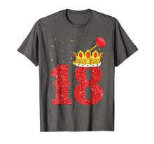 Load image into Gallery viewer, 18th Birthday Boy Gold Crown 18 Years old T-Shirt Gifts