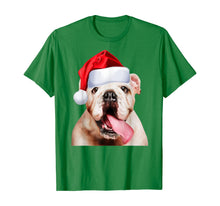 Load image into Gallery viewer, White English Bulldog Santa Hat Cute Image Christmas Gift T-Shirt