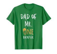 Load image into Gallery viewer, Mens Dad of MR. Onederful Wonderful Funny 1st birthday boy outfit