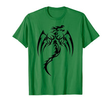 Load image into Gallery viewer, Sleek Dragons Shadow Graphic Design T-Shirt Dragon Gift