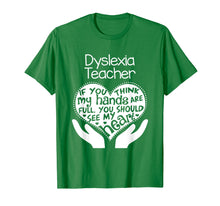 Load image into Gallery viewer, Dyslexia Teacher T shirt Heart Hands School Reading Gift