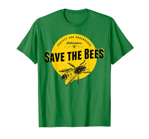 Save the Bees T-Shirt - Save Our Endangered Pollinators Tee