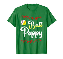 Load image into Gallery viewer, Ball Poppy Love Softball Baseball Player T-Shirt