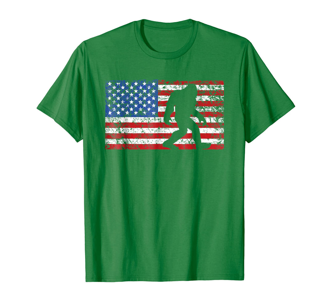 American Flag Bigfoot T-Shirt, Funny 4th of July Sasquatch