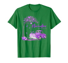 Load image into Gallery viewer, Truck Purple Ribbon November Alzheimer's Awareness Month T-Shirt