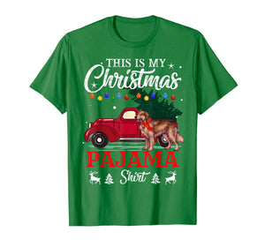 This Is My Christmas Pajama Shirt Golden Retriever   T-Shirt