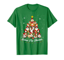 Load image into Gallery viewer, Tree Guinea Pig Christmas Tee Guinea Pig Christmas Pajamas T-Shirt