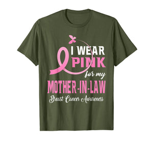 I Wear Pink For My Mother-In-Law Breast Cancer Awareness T-Shirt