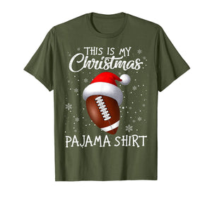 This Is My Christmas Pajama Shirt - Gift For Football Lover T-Shirt