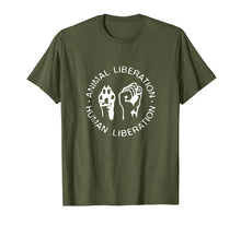 Load image into Gallery viewer, Animal Rights Liberation Vegan Vegetarian T-Shirt