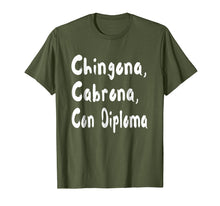 Load image into Gallery viewer, Chingona Cabrona Con Diploma T-shirt