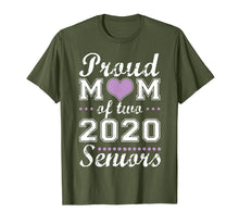 Load image into Gallery viewer, Proud mom of two 2020 senior graduate graduation tshirt