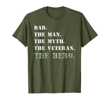 Load image into Gallery viewer, Dad The Man Myth USA Veterans Day Camouflage Gift Shirt