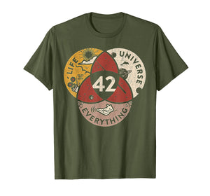 42 The Answer To Life The Universe and Everything TShirt