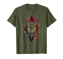 Load image into Gallery viewer, Tribal Owl T-Shirt - Sacred Geometry - Astrology Tee