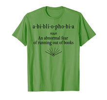 Load image into Gallery viewer, Bibliophobia Shirt Funny Reading T-shirt for Book Lovers