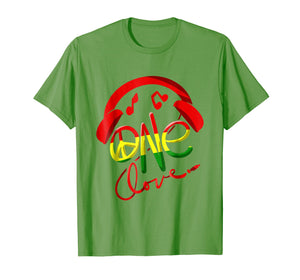 Jamaica One Love Reggae Caribbean Music Pride Flag T-shirt