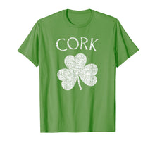 Load image into Gallery viewer, Cork Ireland T Shirt - Shamrock Distressed Print