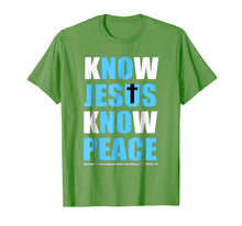 Load image into Gallery viewer, Know Jesus Know Peace Tshirt