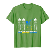 Load image into Gallery viewer, Down Syndrome Skeleton costume halloween Gifts trisomy Tee T-Shirt