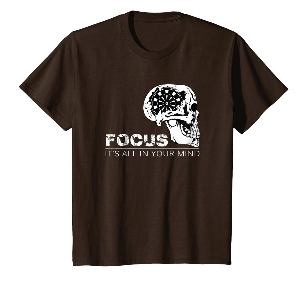 Focus It's All In Your Mind Darts T Shirt Dart Player Gift