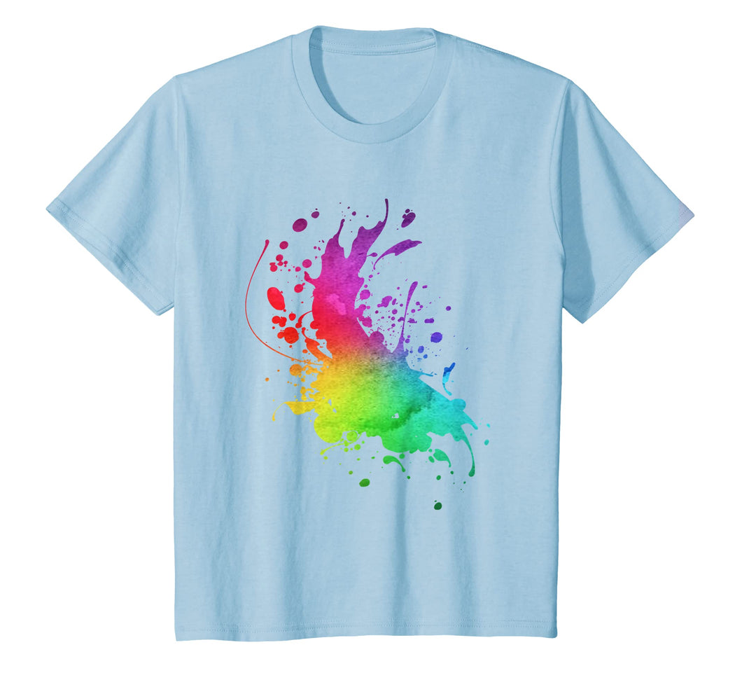 Artist Smock Fun Artist Watercolor Paint Splatter T-Shirt