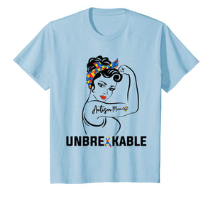 Autism Mom Unbreakable T Shirt Mommy Women Mother Gift