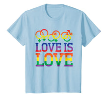 Load image into Gallery viewer, Love Is Love Rainbow t-shirt - Gay Lesbian Pride Shirts
