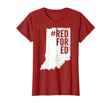 Load image into Gallery viewer, Vintage Red For Ed Shirt Indiana State Teacher RedforEd T-Shirt