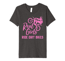 Load image into Gallery viewer, Real Girls Ride Dirt Bikes Shirt | Funny Motocross Gift