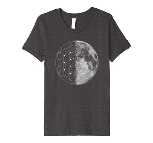 Sacred Geometry Shirt - Flower Of Life Moon