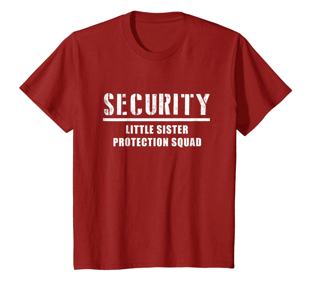 Security Little Sister Protection Squad Big Brother T-Shirt