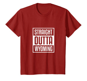 Cool Straight Outta Wyoming Shirt Sheriff Wild West Country