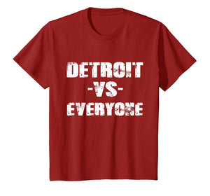 Detroit vs Everyone Vintage Distressed 2018 T-Shirt