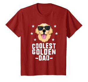 Coolest Golden Dad T-Shirt for Men Retriever New Dog Owner