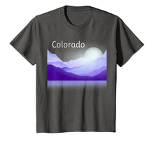 Load image into Gallery viewer, Colorado Mountain Scene T-Shirt Shades of Purple