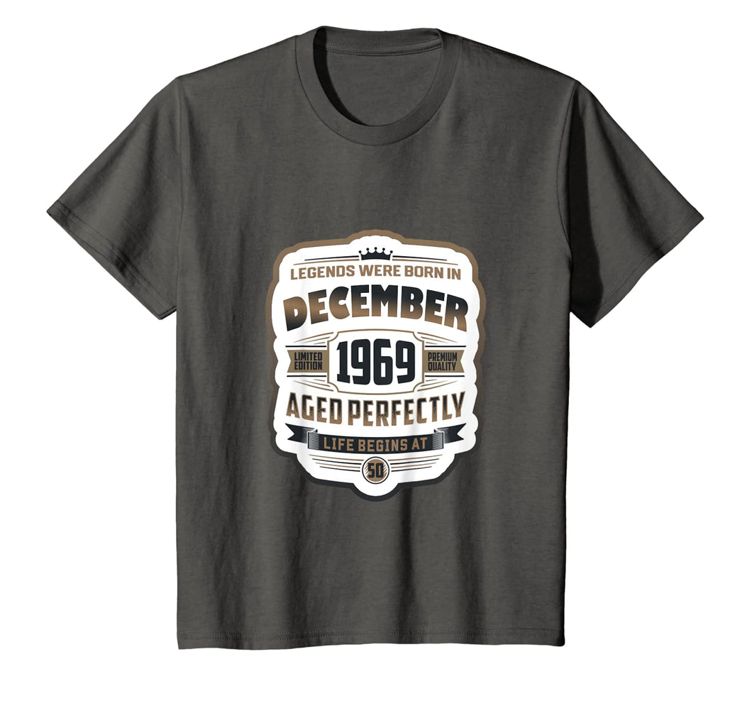 Vintage December Shirt 1969 Birthday Gift For 50 Yrs Old T-Shirt