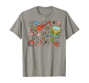 Vintage Peace Love Music All Things Hippie Gift T-Shirt