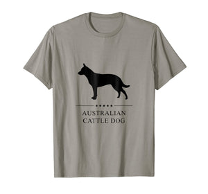 Australian Cattle Dog Shirt: Black Silhouette