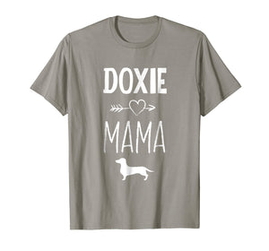 Doxie Mama T-Shirt Funny Dachshund Dog Lover Gift Shirt