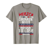 Load image into Gallery viewer, America Drinking Booze & Refusing To Lose Alcohol T Shirt