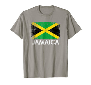 Jamaican Flag T-Shirt | Vintage Made In Jamaica Gift