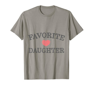 Favorite Daughter Heart Distressed Vintage Faded   T-Shirt