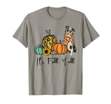 Load image into Gallery viewer, It's Fall Y'all Aussie Dog Leopard Pumpkin Falling Dog T-Shirt