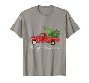 Vintage Christmas Classic Truck T-Shirt with Snow and Tree