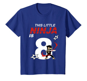 Kids 8th Birthday Boys Ninja T-Shirt Martial Arts 8 Year Old