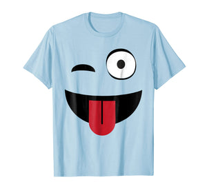 Emoji TShirt One Eye Open Wink Tongue Out