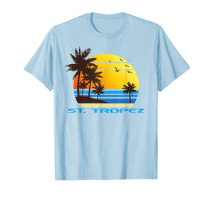 St. Tropez Beach Surf T-Shirt Summer Souvenir Tee Shirt