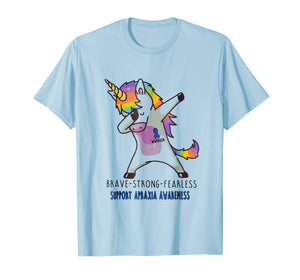 Brave strong Fearless Unicorn Apraxia Awareness Shirt